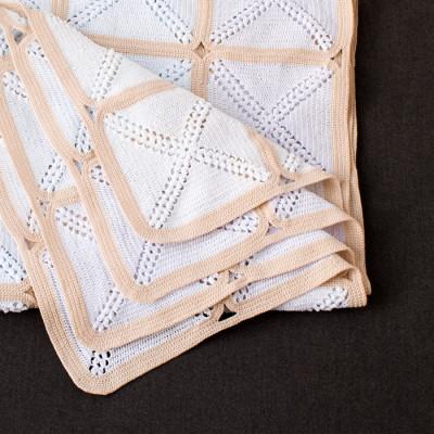 Colcha crochet algodón Zepelin Rubí