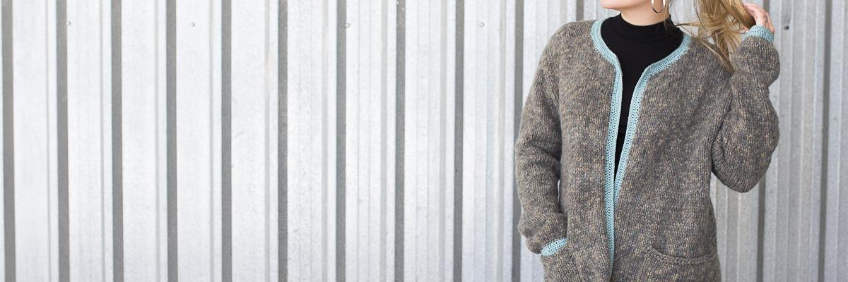 Chaqueta con filo de crochet - Lanas Rubí | Lanas Rubí