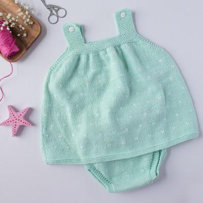 Destacado Vestido bebe mint
