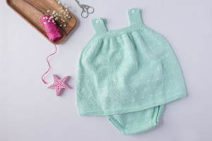 Vestido bebe mint-1